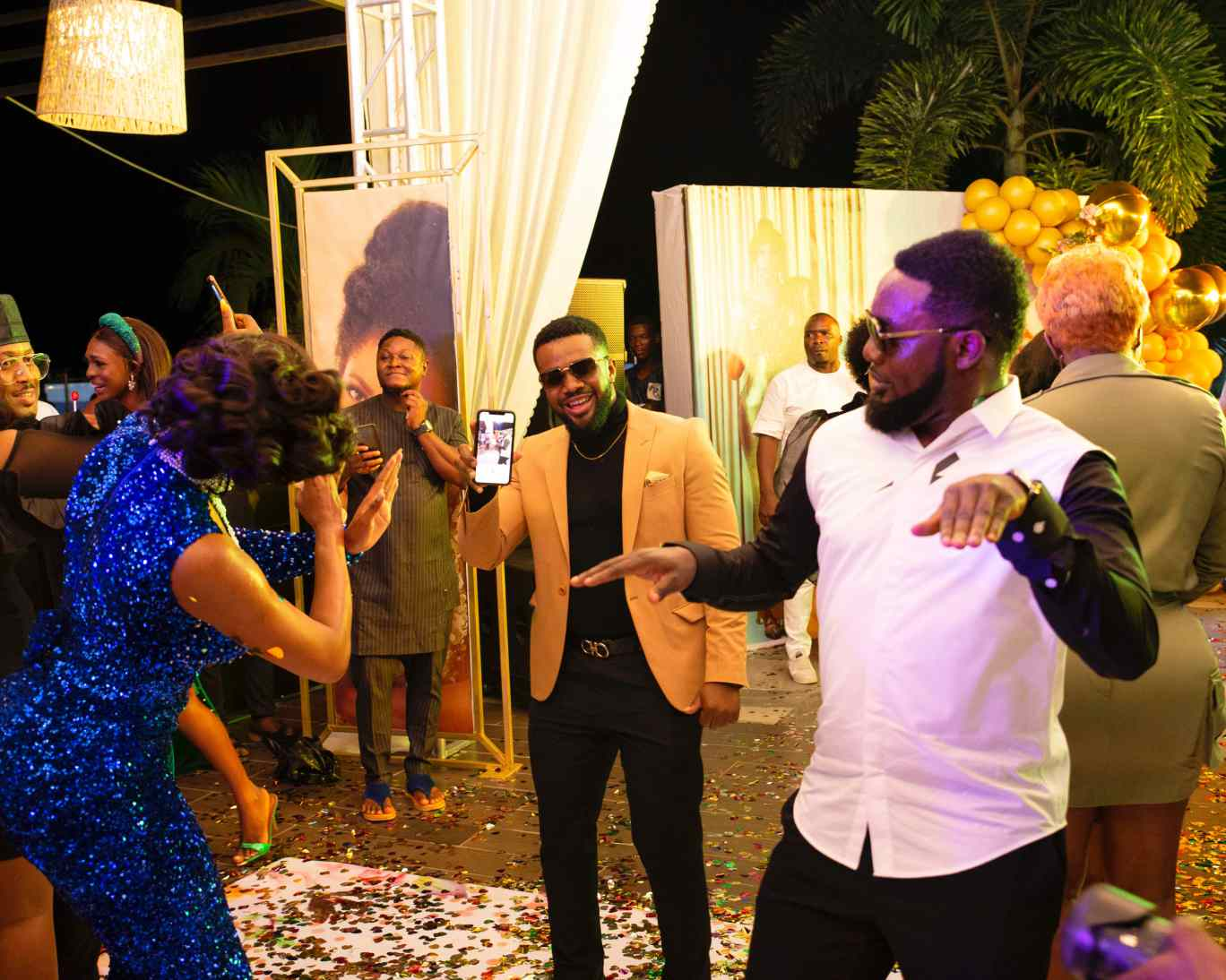 AY, Williams Uchemba at  Chika Ike's 35th Birthday Party