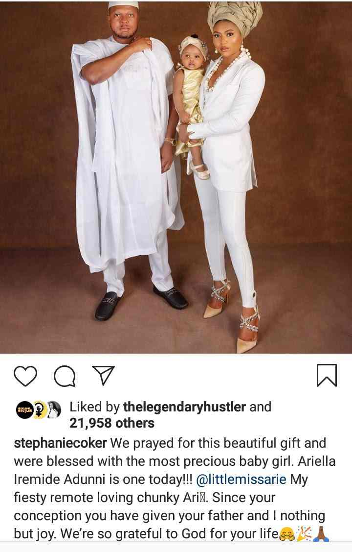 Stephanie Coker reveals face of daughter for the first time as she clocks 1