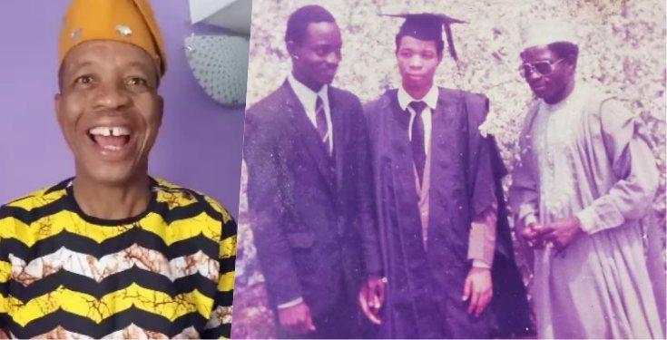 Throwback photo of comic actor, Saka in OAU 1986
