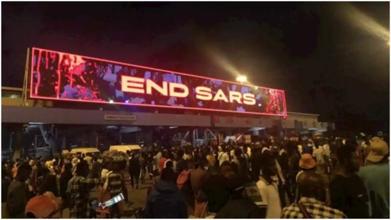 #endsars protest; Lekki toll gate shooting
