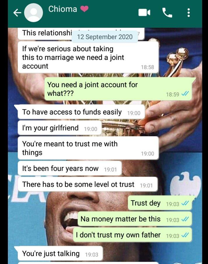 Lady Who Collects 120k Monthly Allowance from Boyfriend Demands They Open Joint Account 4