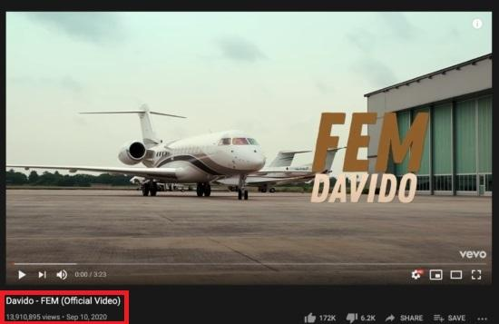 FEM Davido Youtube