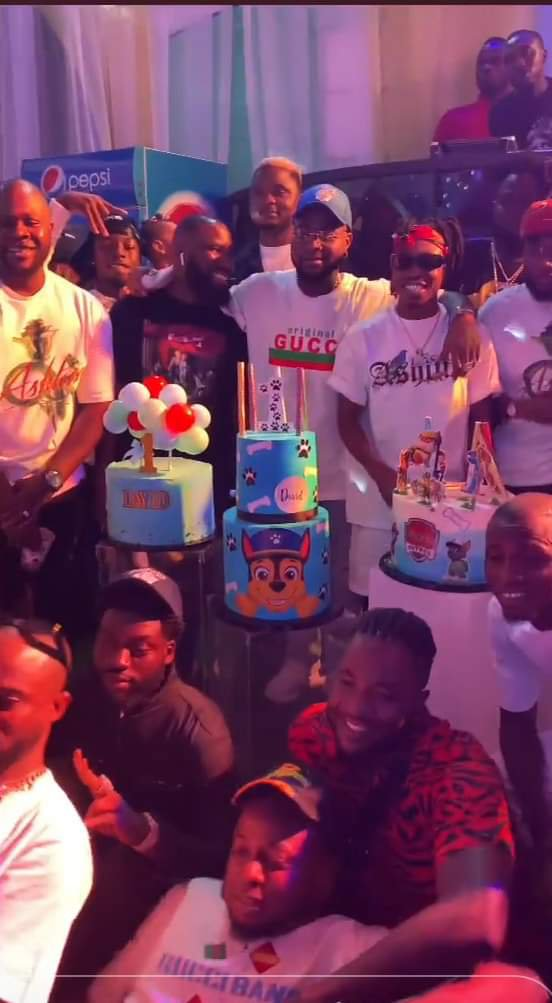 Davido and Chioma party for their son