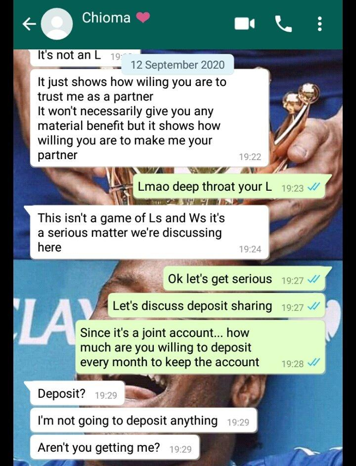 Lady Who Collects 120k Monthly Allowance from Boyfriend Demands They Open Joint Account 5