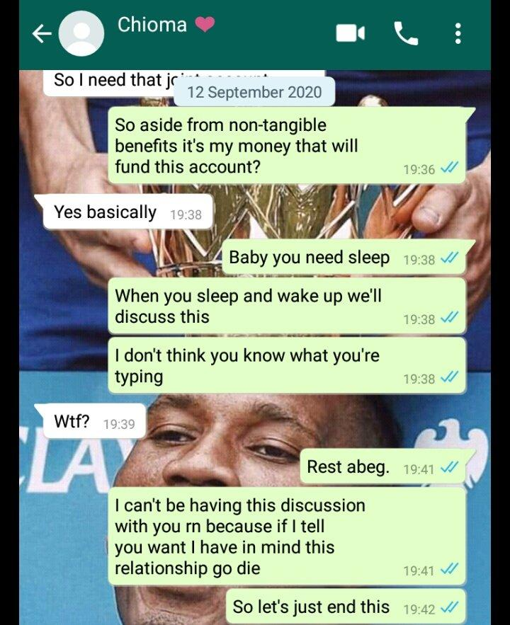 Lady Who Collects 120k Monthly Allowance from Boyfriend Demands They Open Joint Account 6