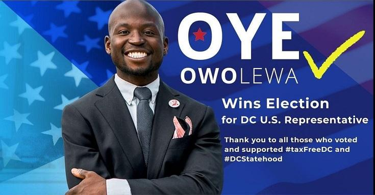 Oye Owolewa wins election for DC U.S. Representative