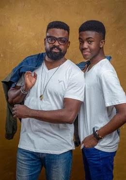 kunle afolayan and his son