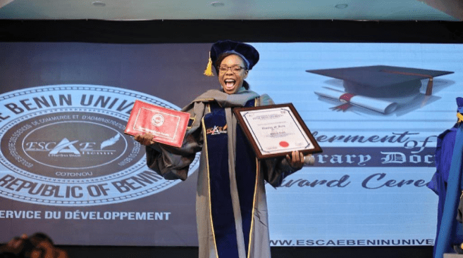 Kaffy Honorary Doctorate