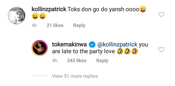 Toke Makinwa on butt surgery