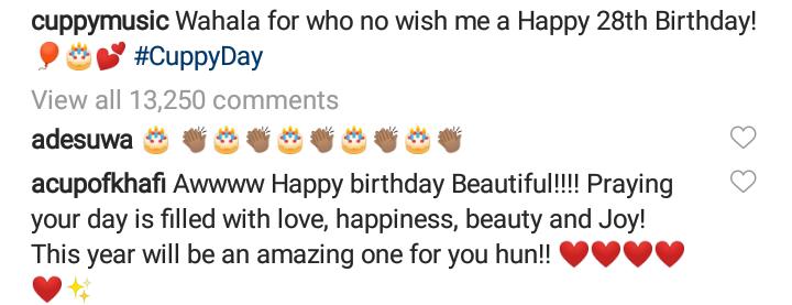 DJ Cuppy celebrates her birthday