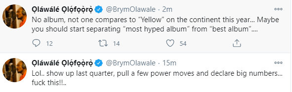 "''Start separating most hyped album from best album"" - Brymo shades MIL, ABT albums"