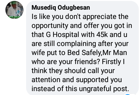 Man calls out hospital after being charged N45K for 'one hour child labour and successful delivery'