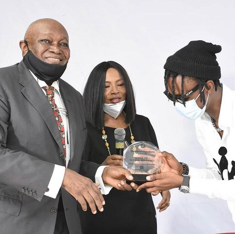 Laycon Awarded As Ambassador and Sickle Cell Global Advocate in Nigeria