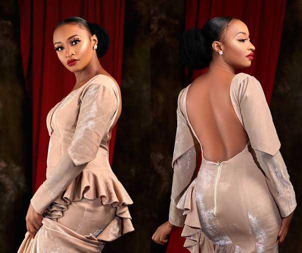 Rahama Sadau backless top