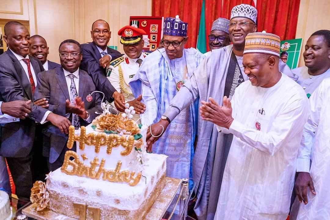 president buhari birthday cake