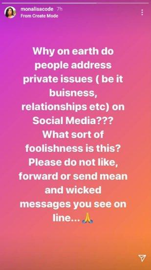 Private issues - Monalisa Chinda