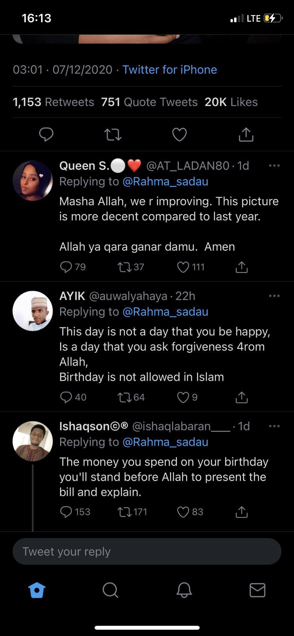 """""""Looking more decent"""" - Reactions as actress, Rahama Sadau celebrates birthday"""