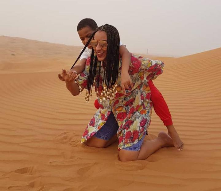 Juliet Ibrahim celebrates her son