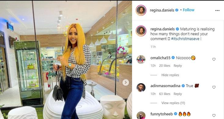 """Your old husband is disgracing you everywhere"" - Fans troll Regina Daniels over Ned's 7th wife"