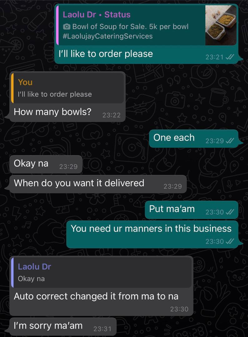 Online soup vendor lambast customer who asked for 'tasting' before buying