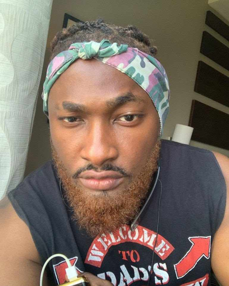 Reactions As BBNaija Star, Uti Nwachukwu Tints His Beards Gold