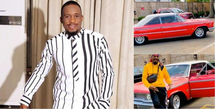 Actor Junior Pope gifts himself a vintage car as Christmas gift (Video)