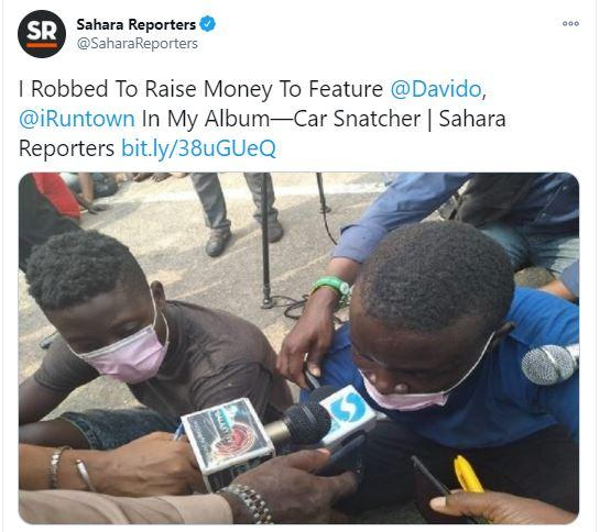 """""""I stole to raise money to feature O.B.O on my album"""" - Davido reacts as robber confesses"""