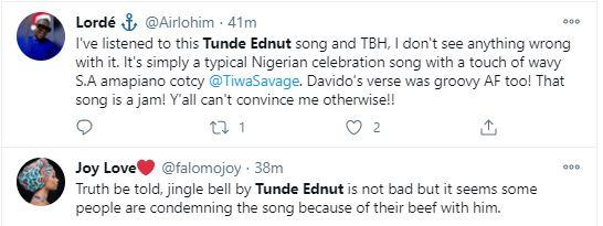 """""""Don't ever sing again"""" - Netizens drag Tunde Ednut over new song featuring Davido (Video)"""