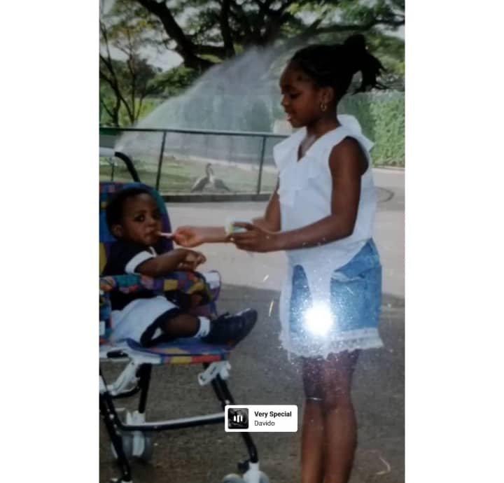 Childhood photos of Davido