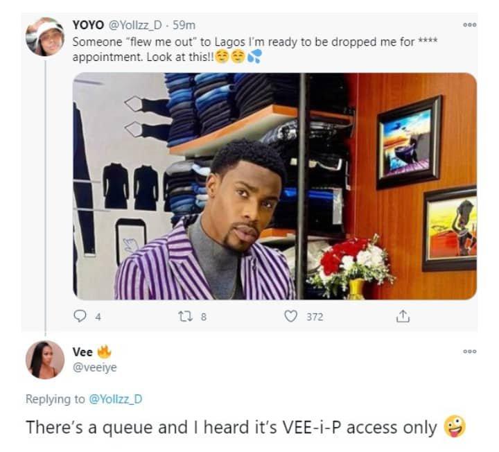 Vee marks her territory around Neo