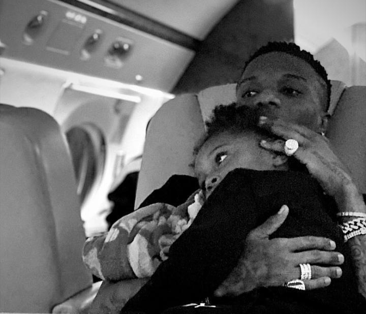 Wizkid jada and zion back to Nigeria