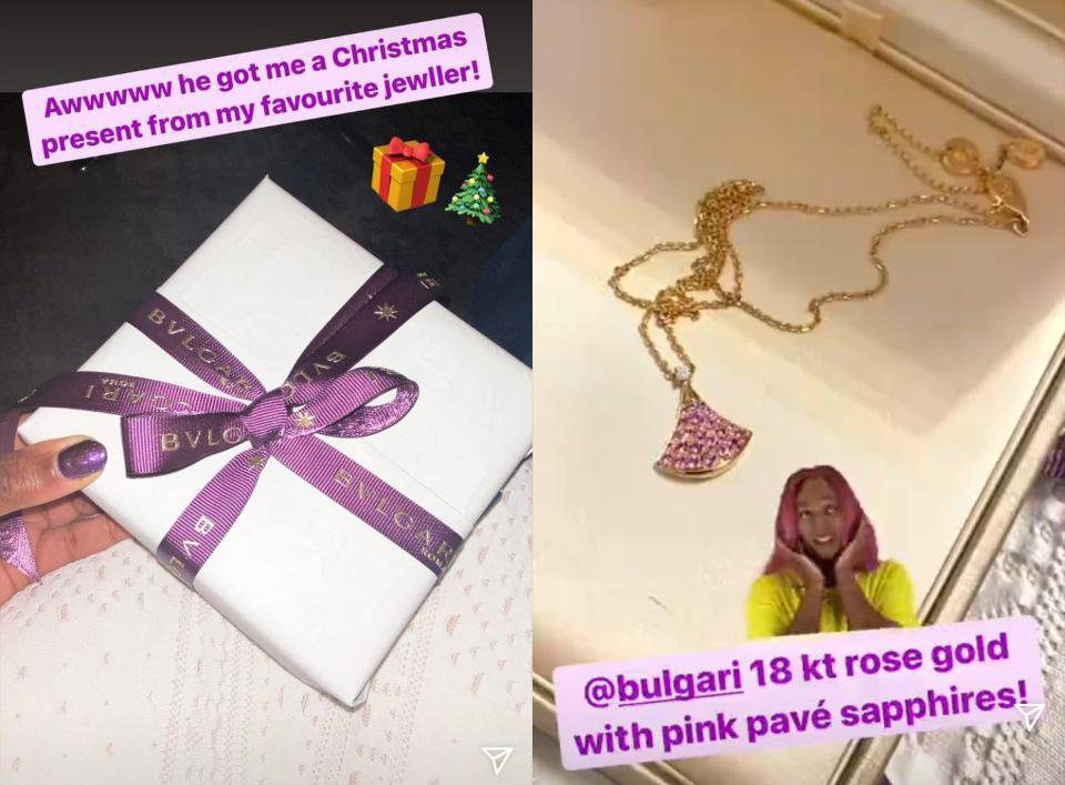 Cuppy Christmas gift from her man
