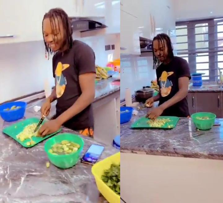 Naira Marley Cooking In The Kitchen