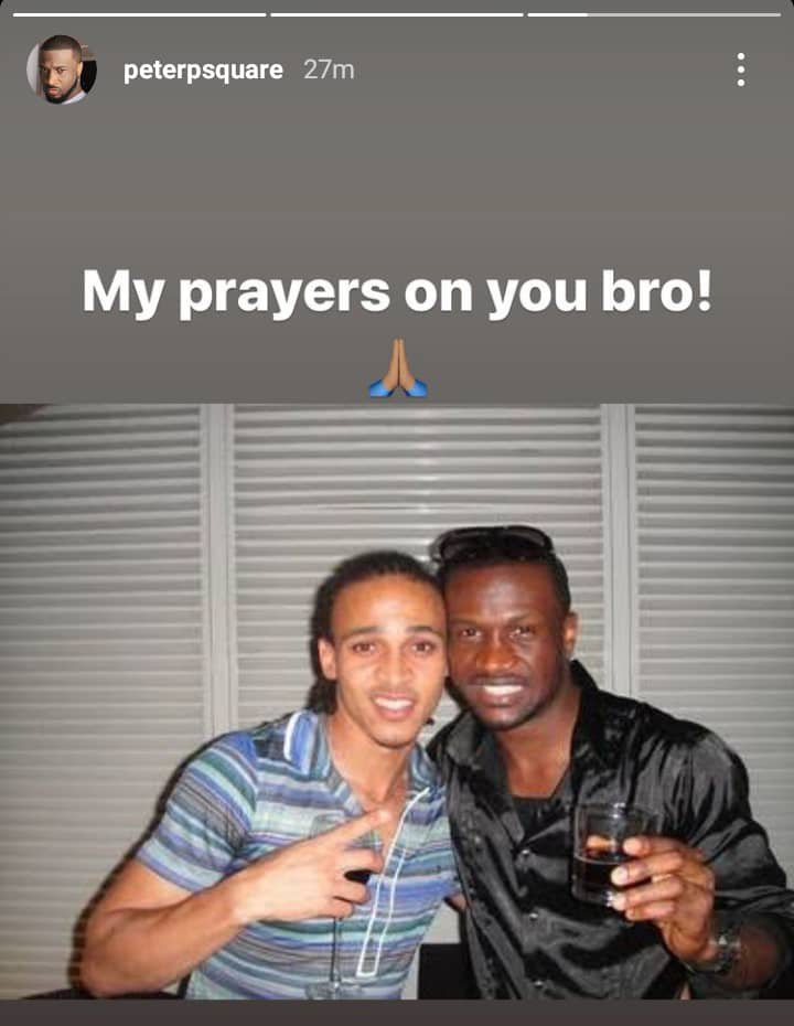 Peter okoye reacts to Odemwingie