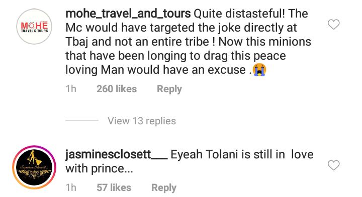 Tolanibaj blasts MC who tribe-shamed her