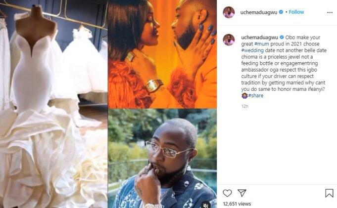 Wed chioma - Maduagwu tells Davido