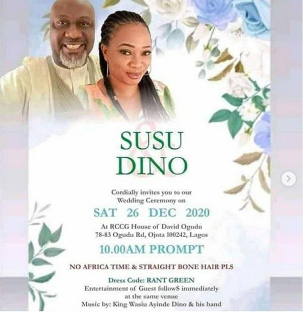 Dino Melaye denies wedding poster of himself and a woman, calls it photoshop