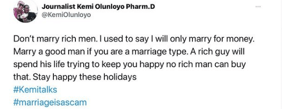"""Apostle of rubbish"" - Kemi Olunloyo lambast pastor who questioned her marriage counselling"