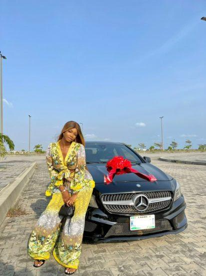 Iyabo Ojo's 19-year-old daughter, Priscilla gifts herself a Mercedes Benz
