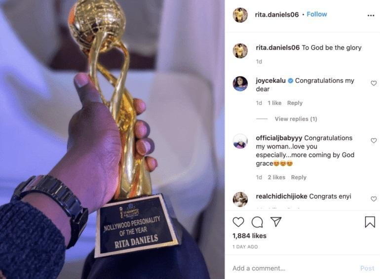 Regina Daniels' Mom, Rita Awarded Nollywood Personality Of The Year