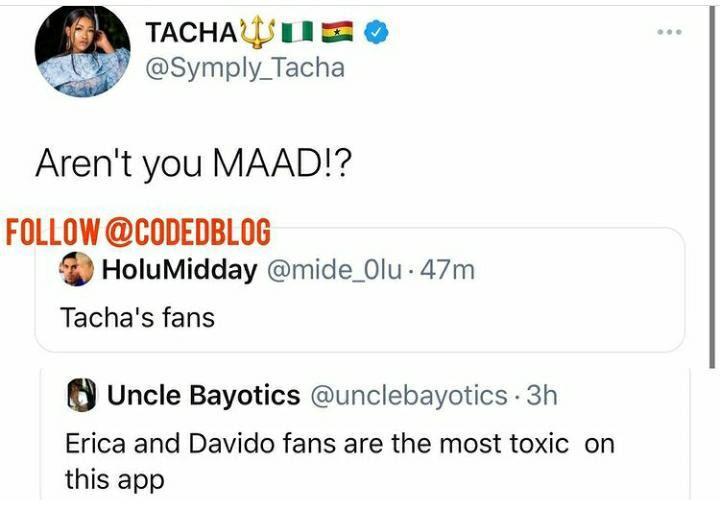 tacha fans titans toxic