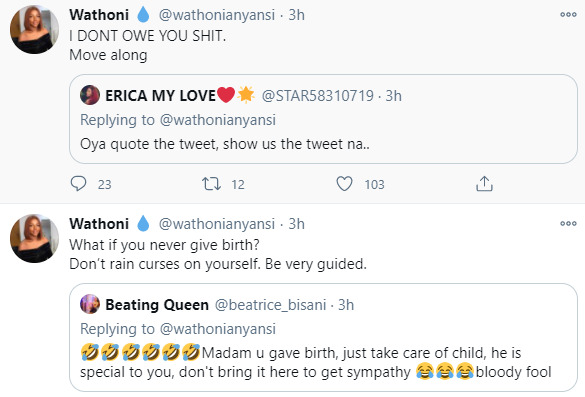 Wathoni warns trolls