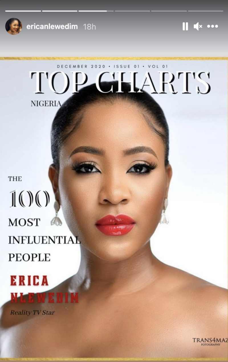 Erica Nlewedim named one of 100 most influential people in Nigeria