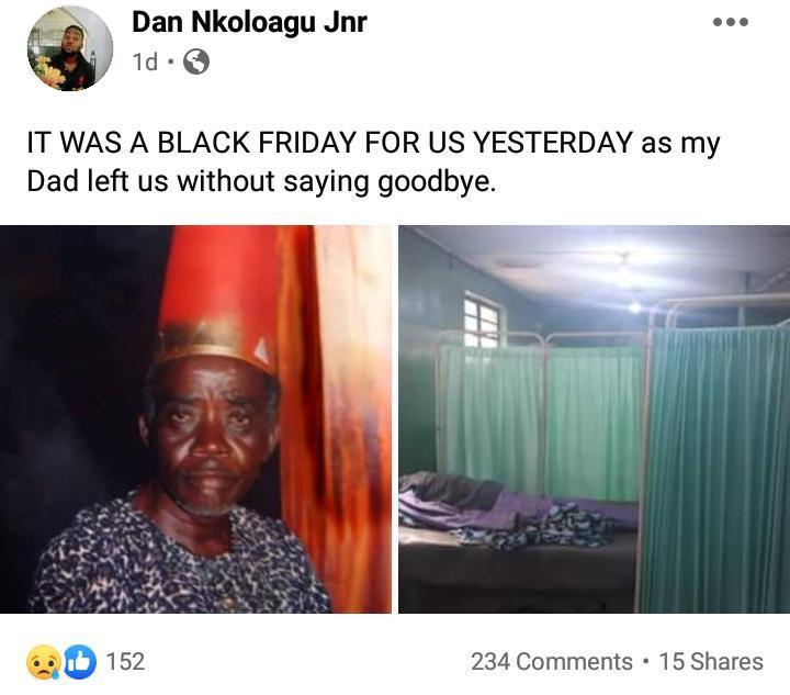 Dan Nkoloagu Is Dead