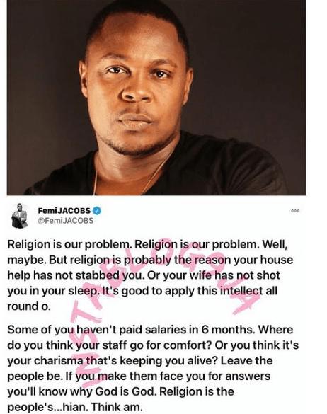 religion femi jacobs stabbed