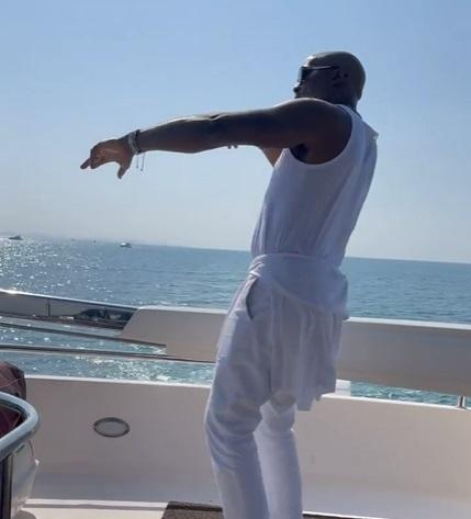 Nollywood actor RMD shows off dancing skills on a yacht in Dubai (Video)