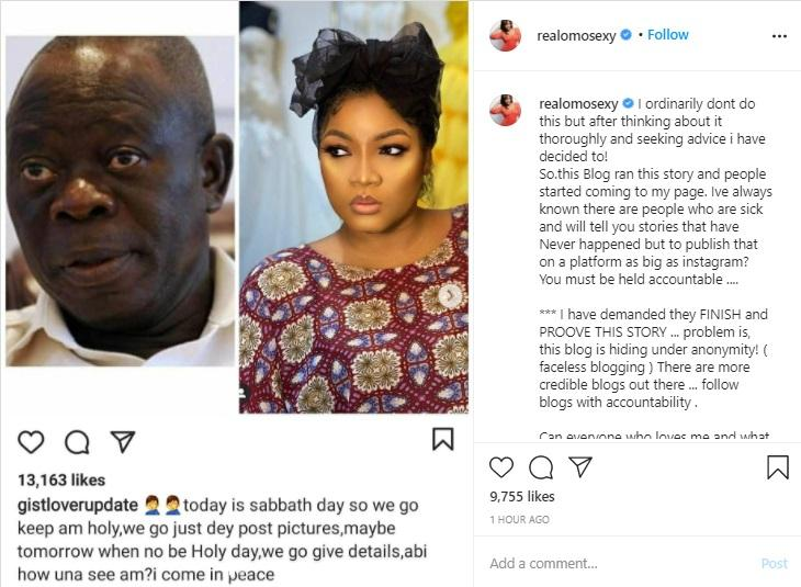 """""""Prove this story"""" - Omotola Jalade blast blogger over alleged affair with Oshiomhole"""