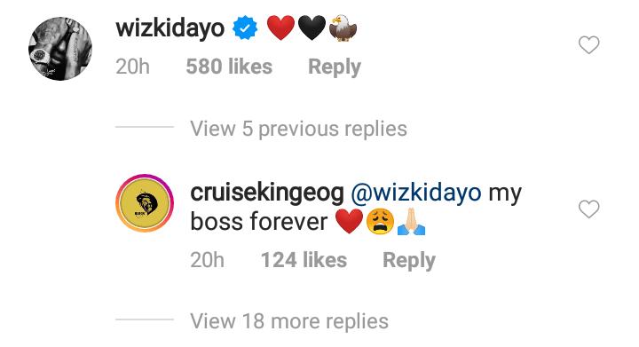 Wizkid's face tattooed on his arm