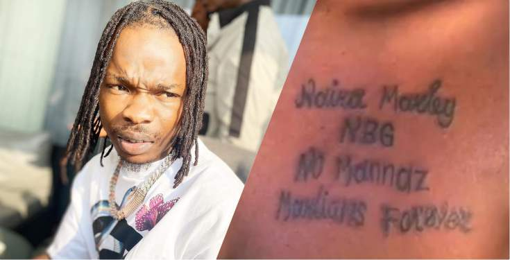 Naira Marley applauds Cameroonian who tattooed his name on her chest (Video)