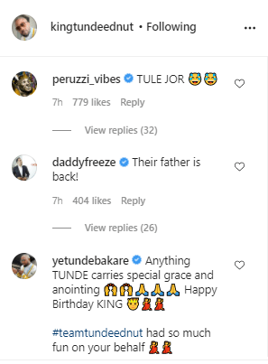 """Their father is back"" - Reactions as Instagram reactivates Tunde Ednut's page"